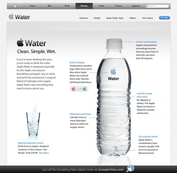 Apple Water in de supermarkt