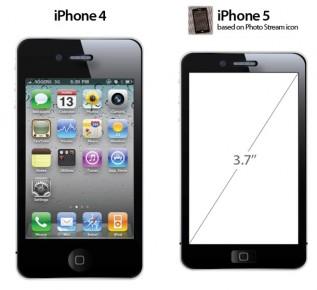 iPhone 5 icoon geëxtrapoleerd