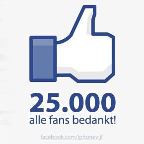 Nieuwe mijlpaal: 25.000 Facebook fans!