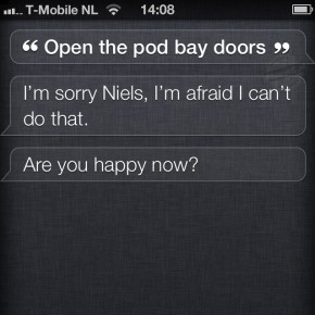 Siri: Open the pod bay doors