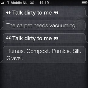 Siri: Talk dirty to me
