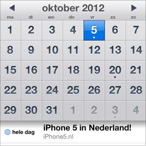 iPhone 5 in Nederland: 5 oktober 2012
