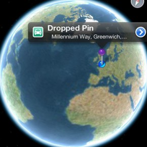 iOS 6: Maps (planet zoom out)
