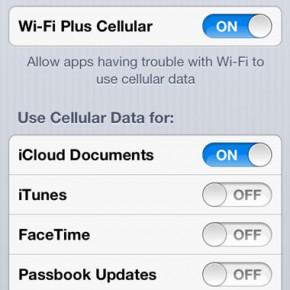 iOS 6: Wi-Fi Plus Cellular