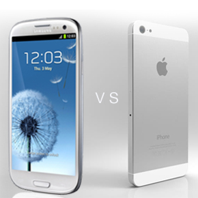 iPhone 5 concept vs Samsung Galaxy S3 in 3D