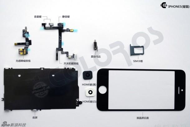 iPhone 5 onderdelen (achterkant)