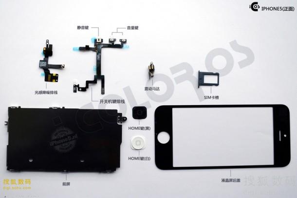 iPhone 5 onderdelen (voorkant)