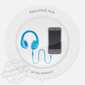 Headphone jack aan onderkant: 94% kans