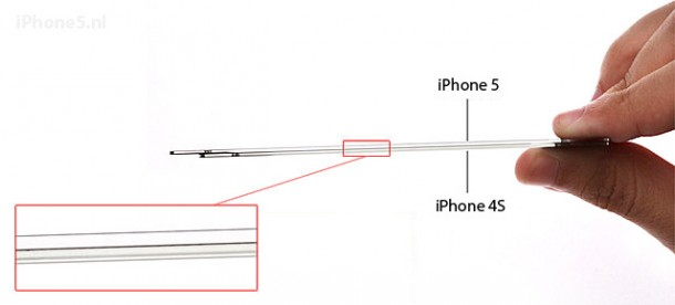 Scherm iPhone 5 vergeleken met iPhone 4S