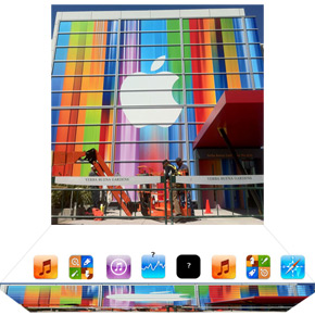 Banners iPhone Event tonen uitgerekte iOS iconen