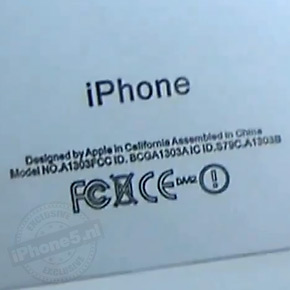 Opschrift op achterkant iPhone 5 klopt niet helemaal
