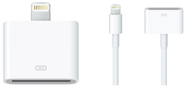 Apple iPhone 5 Lightning adapters