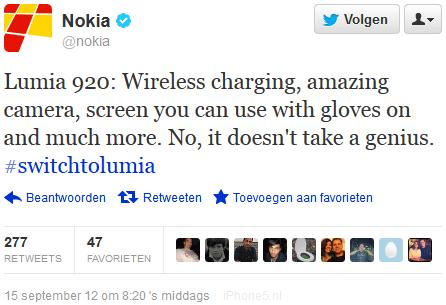 "Nokia Tweet: ""No, it doesn't take a genius."""