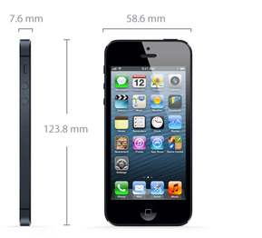 Afmetingen iPhone 5