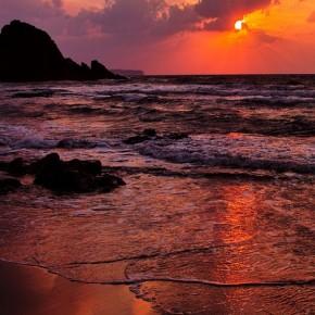 iPhone 5 Wallpaper: amazing sunset