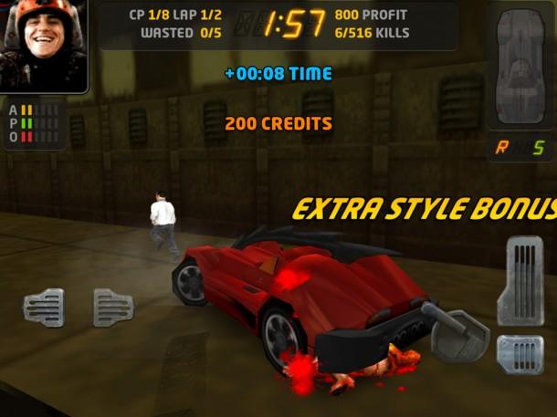 Carmageddon voor iOS - screenshot