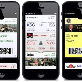 Vul Passbook met historische tickets