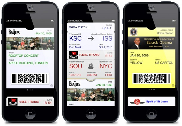 Passbook - neptickets op je iPhone 5