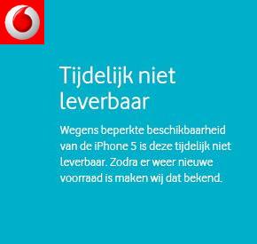 Vodafone stopt (tijdelijk) iPhone 5 verkoop