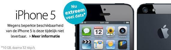 Vodafone: iPhone 5 tijdelijk niet leverbaar