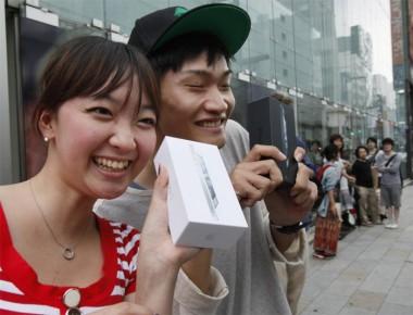 Chinezen met iPhone 5