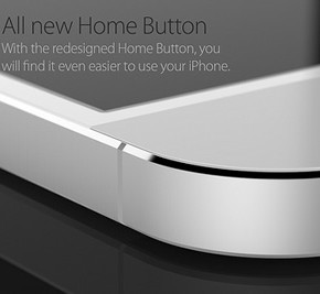 iPhone 6 concept - all new home button