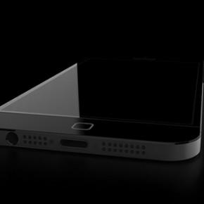 iPhone 6 concept - zwart liggend
