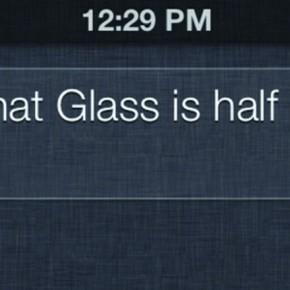 Ik denk dat het glas half leeg is