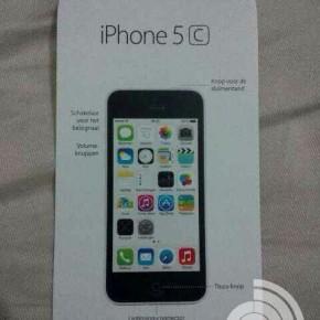 Nederlandse Starters guide iPhone 5C uitgelekt
