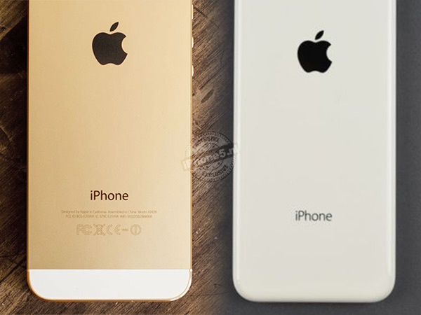 iPhone 5S naast iPhone 5C