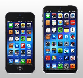 iPhone 6 inch vergeleken met 5 inch