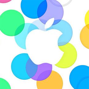 Kleurrijke uitnodiging Apple iPhone Event
