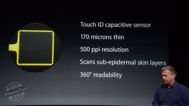 iPhone 5S vingerafdrukscanner