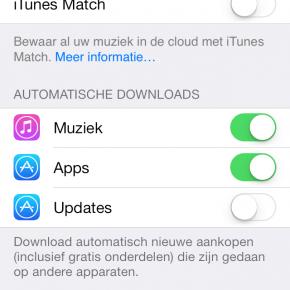 Automatisch updaten apps uitschakelen