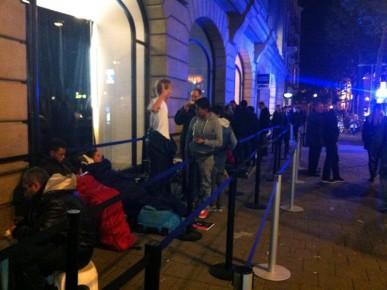 Wachtenden Apple Store 24 okt