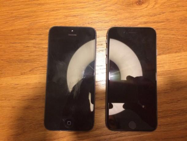 iPhone 5 naast iPhone 5SE